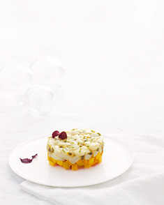 Tartare de saint-jacques à la mangue et fruit de la passion