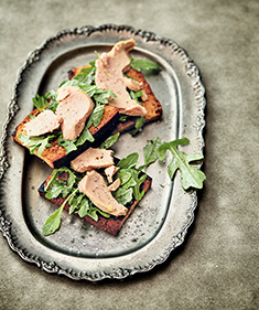 Toasts au foie gras