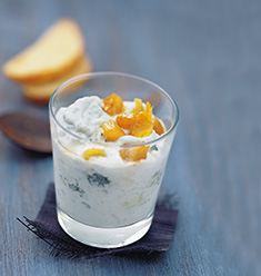 Mousse roquefort-poire-gingembre