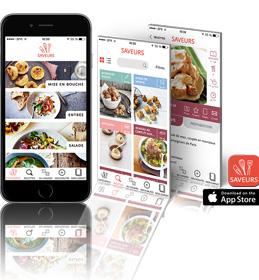 Application Saveurs pour iPhone